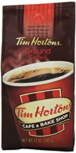 TIM HORTONS CAFE & BAKE SHOP 100% ARABICA MEDIUM ROAST GROUND COFFEE 340g by TIM HORTONS