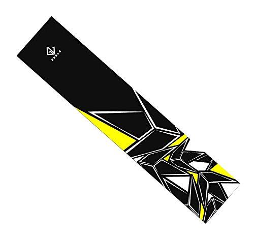Skateboard Grip Band Blatt Blase Freie Scrub Aufkleber abriebfeste Anti-Rutsch, Gelb #25