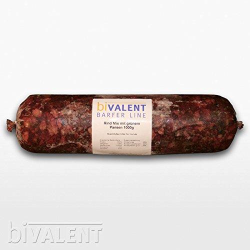 10kg Barfer Line Rind Mix mit Pansen (Rinderpansen grün, Rindermuskelfleisch & Rinderlunge) 10x1000g gewolft BARF Frostfleisch Hundefutter
