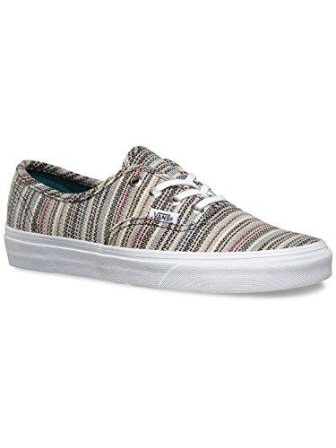 Vans Women's Woman's Sneakers Shoes With Striped Print Textile Gris