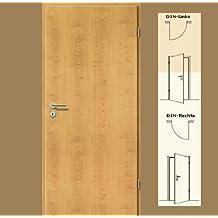 CPL Zimmertür Tür Türen Innentüren Ahorn Rustikal RSP DIN Rechts / 8-14,5 cm