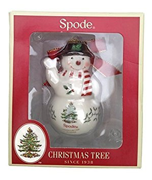 Spode China Weihnachtsbaum Schneemann Ornament Spode China Christmas Tree Ornaments