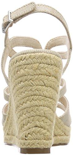 Tamaris Damen 28374 Slingback Sandalen Beige (Ivory Struct.)