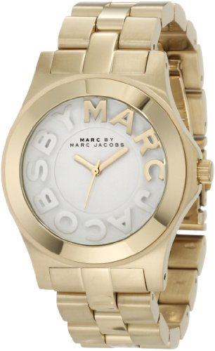 Marc by Marc Jacobs MBM3134 Women's Rivera White Dial Gold Tone Stainless Steel Bracelet Watch