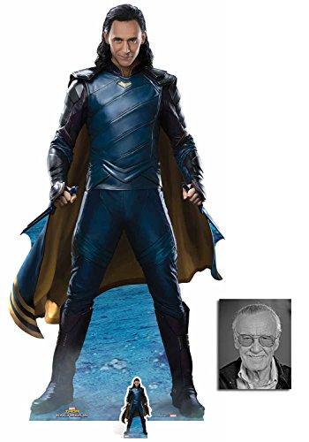 Fan Pack - Loki from Thor Ragnarok (Tom Hiddleston) Lebensgrosse und klein Pappfiguren / Stehplatzinhaber / Aufsteller - Enthält 8X10 (25X20Cm) starfoto