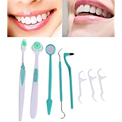Getko 8 pcs/ 1 set Dental Hygiene Products Oral Care Dental Care Tooth Brush Kit Teeth Whitening Tools