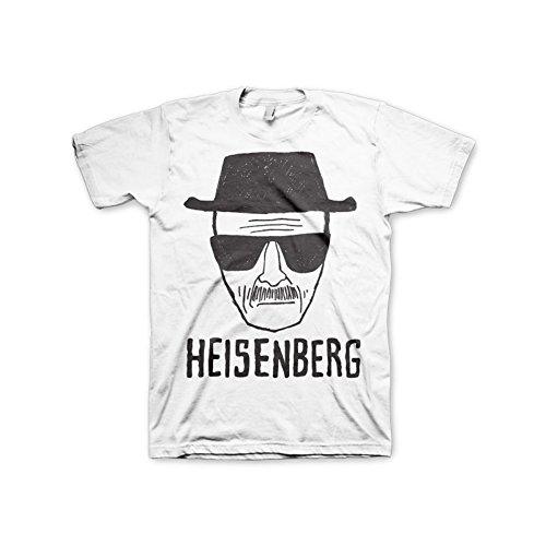 Offizielles Lizenzprodukt Breaking Bad Heisenberg Sketch T-Shirt (Weiß), Large