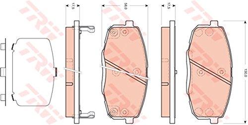 TRW Automotive AfterMarket GDB3450 Kit Pastiglie Freno, Freno A Disco