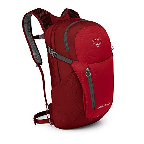 Osprey Daylite Plus Rucksack für Arbeit, Schule und Freizeit, unisex - Real Red (O/S) -