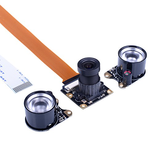 Kuman Camera Module for Raspberry Pi Zero W 3 Model B B+ A+ 2 1 5MP 1080p OV5647 Sensor HD Video Webcam Night Vision Camera SC15-1 (Pi Raspberry Cam Pi)