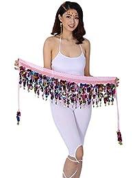 cb8572fbcb0 Miyanuby Belly Dance Bra Sequined Beaded Halter Bra Dance Costumes Fringe  Tops Bra + Belly Dance