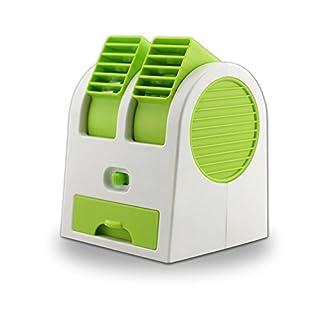 asentechuk® Tragbare Praktische Mini Fan Kühlung Desktop Dual schaufelloser USB Klimaanlage Fan