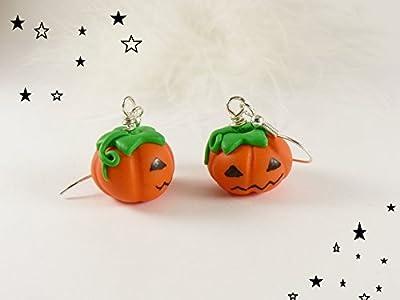 Boucles d'oreilles affreuses citrouilles : bijoux halloween