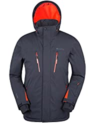 Mountain Warehouse Apollo Mens Ski Jacket - Waterproof Rain Coat, Breathable, Quick Dry Mens Outer, Taped Seams, Ski Pass Pocket - Ideal Winter Coat For Skiing