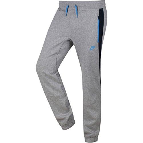 Nike Mens Grey Blue Hybrid Fleece Tracksuit Bottoms