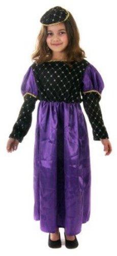 Lila Mädchen Renaissance Kostüm - Unbekannt Mädchen Lila Renaissance Kostüm Alter 10-11 erhältlich