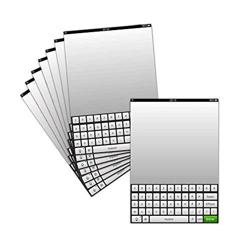 Grußkarte Geek Gutschein 2019 – 8 Karten – Tastatur für das Gute Jahr 2019 – Dispo in 3 Größen Carte pliée - 14 cm x 19,5 cm