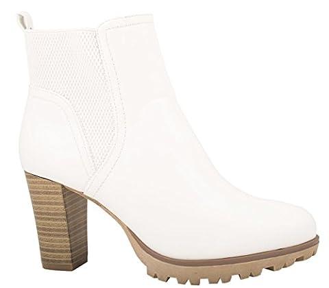 Elara Ankle Boots | Trendige Damen Stiefeletten | Blockabsatz