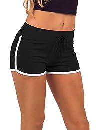 Mini Shorts Jersey Aktive Wear Sport figurbetont bequem für Frauen