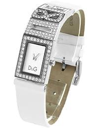 D&G Dolce&Gabbana Damen-Armbanduhr SHOUT LOGO LDY SS W/SWA SILVER DIAL STRAP WHITE DW0506