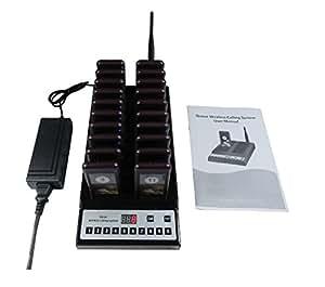 Coda chiamate wireless sistema 20pcs cercapersone/1pc tasto tastiera