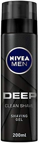 NIVEA MEN Deep Clean Shave, Black Charcoal - 200ml