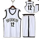 Photo de Ensemble de Fans de Basket-Ball pour Enfants, Brooklyn Nets n ° 11 Kyrie Irving n ° 12 Harris, vêtements de Sport de Basket-Ball Super fabriqués, adaptés aux Cadeaux pour Enfants par YIAIYW
