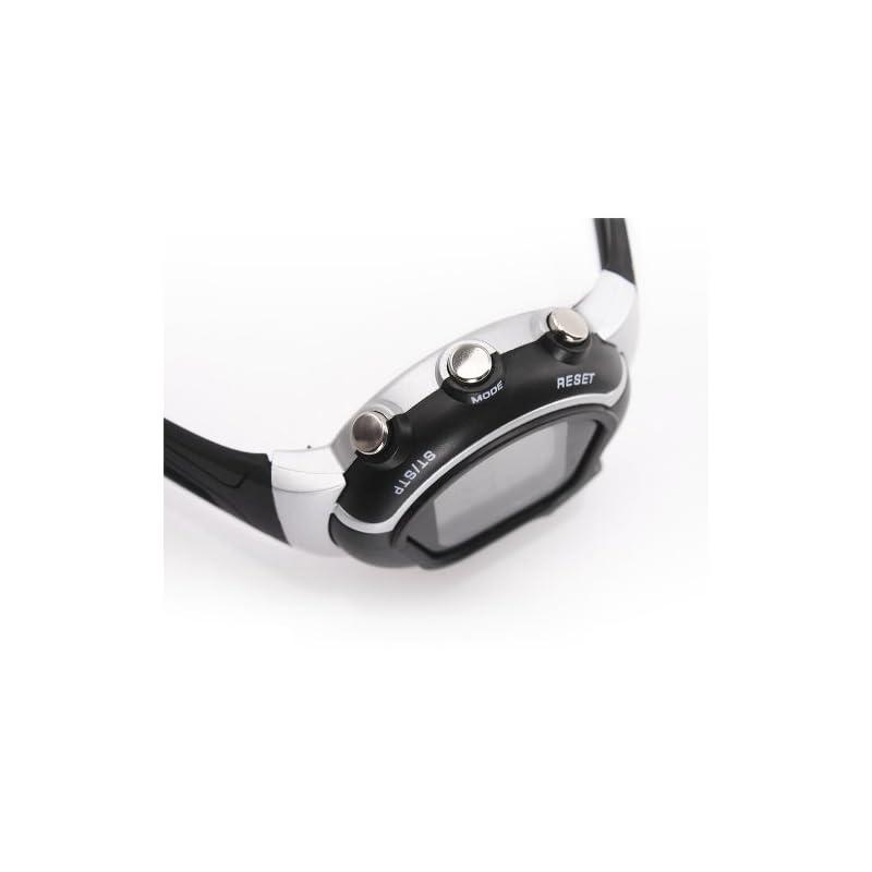 Pellor Calorie Heart Rate Monitor Watch Pulse Watch Sport Watch Wristwatch (Black)