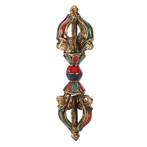Handgemachte tibetische Vajra Dorge, Phurba Stößel Vintage fünf Stränge Stößel Dämon Stößel Buddhismus religiöse Lieferungen
