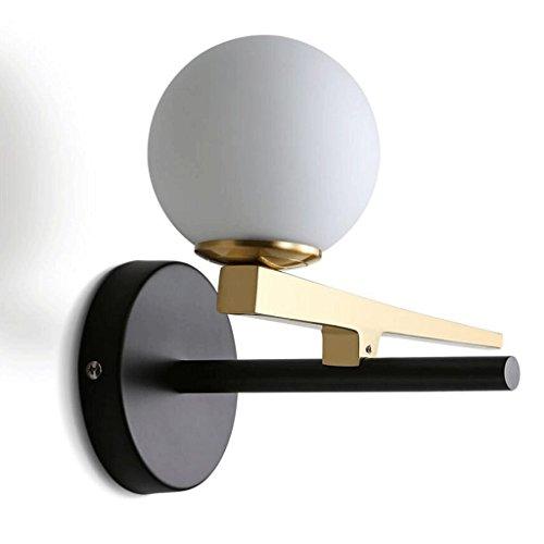 YYF Applique Fer Forgé Creative Long Bar Or Simple Salon Chambre Chambre Miroir Lampe De Chevet Led Chaud