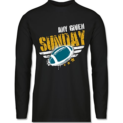 Shirtracer American Football - any Given Sunday Football Jacksonville - Herren Langarmshirt Schwarz