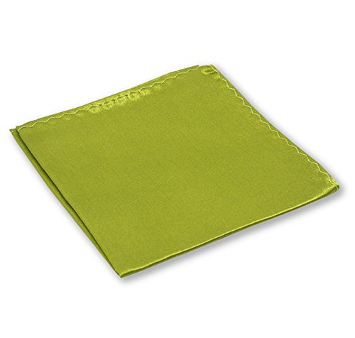 LABEL-CRAVATE Pochette costume mariage vert-kaki-olive finitions main