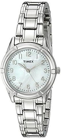 Timex Femme tw2p760009j City Collection affichage analogique à quartz montre argent