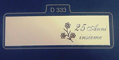 75 pezzi, bigliettini x bomboniera con stampe personalizzate (nozze d'argento) (d333-75s)