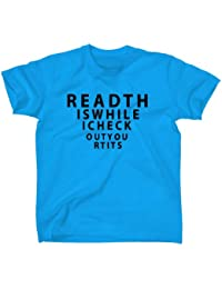 NEW READ THIS WHILE I CHECK OUT YOUR TITS TOP SELLING FUNNY TSHIRTS MENS BOYS WOMENS LADIES GILRS TREND COMEDY TEE ALL SIZES