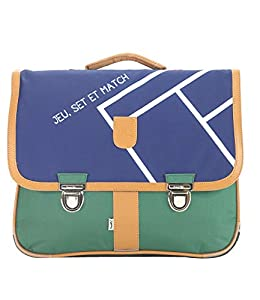 Bagtrotter MSNI10TENN Miniseri - Bolsa Escolar (39,5 x 16 x 33 cm), Color Verde y Azul Marino