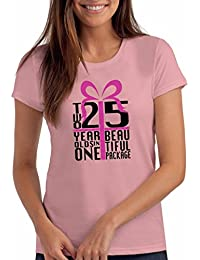 Two 25 Year Olds in One Beautiful Package - Women's 50th Birthday T Shirt Gift