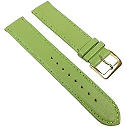 Miami Replacement Band Watch Band kalf nappa Strap light green 22554G, width:13mm