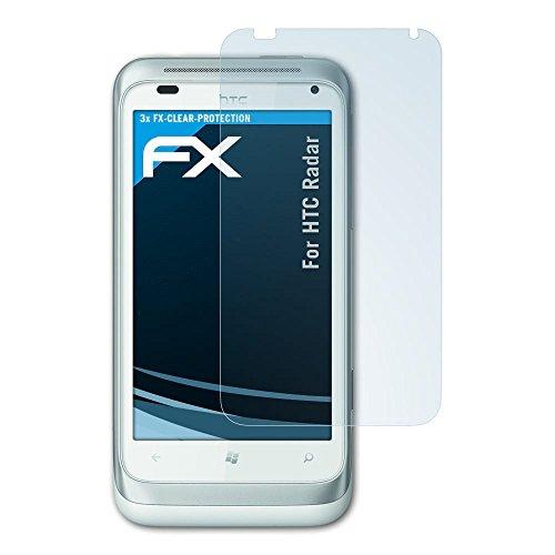 atFolix Schutzfolie kompatibel mit HTC Radar Folie, ultraklare FX Displayschutzfolie (3X) Htc-htc Radar