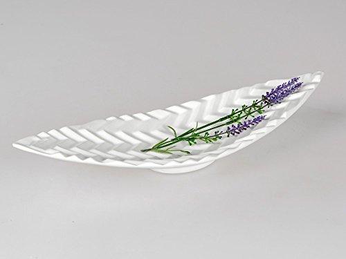 Formano Bol décoratif en Zigzag Blanc 40 cm