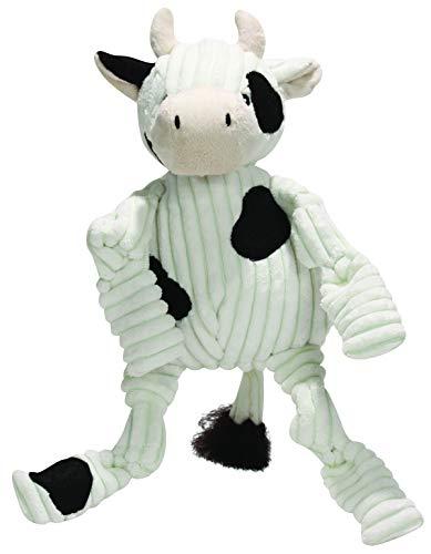 HuggleHounds Plüsch Cord langlebiges Hundespielzeug Kuh Barnyard - Kuh Hundespielzeug
