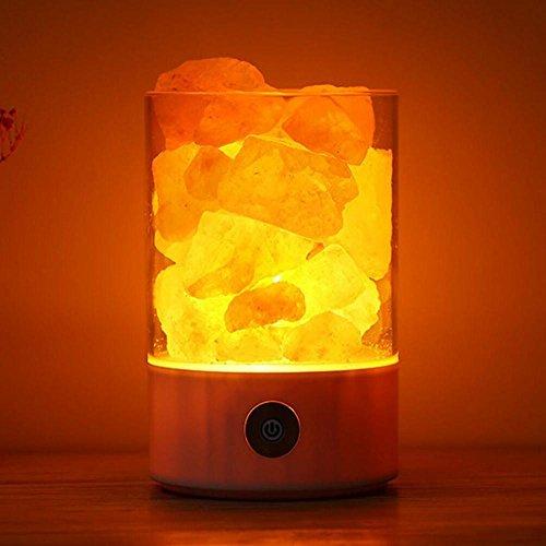 Lampe š€ sel en cristal anionique naturel Himalayan USB Lampe de chambre š€ coucher de santšŠ et de bien-šºtre Nightlight , 3
