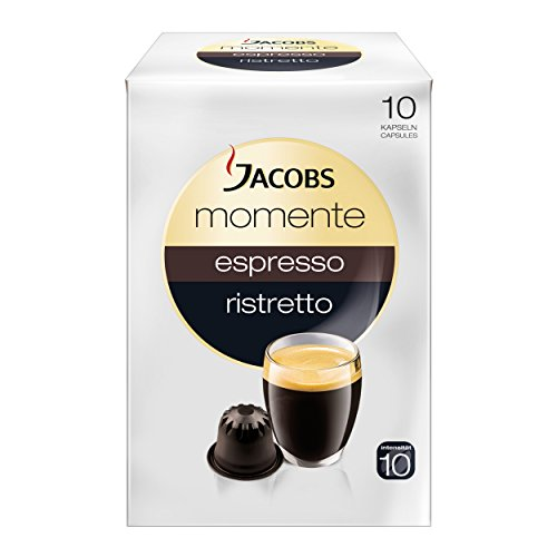 Price comparison product image Jacobs Moments Espresso Ristretto Capsule, Suitable for Nespresso Machine, 10PCs. à 5.3 g, 913289