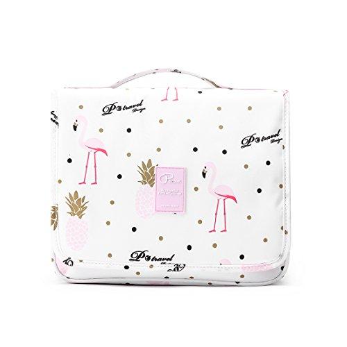 Beauty case da viaggio borsa da toilette caxece borsa da viaggio con gancio da appendere portaoggetti bag organizer pochette make up porta trucchi impermeabile leggero pratico