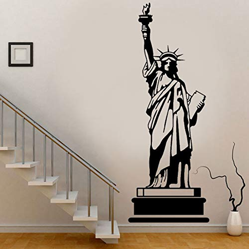 hllhpc Große größe New York Wahrzeichen gebäude Freiheitsstatue wandaufkleber wohnkultur Wohnzimmer l abnehmbare schwarz mural42 * 114 cm