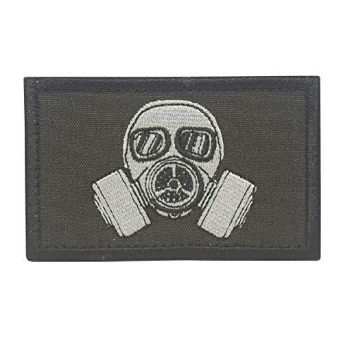 Tasche Biohazard Kostüm - COBRA Tactical Solutions Military Patch Biohazard Gas Maske mit Klettverschluss für Airsoft Paintball für Taktische Kleidung Rucksack