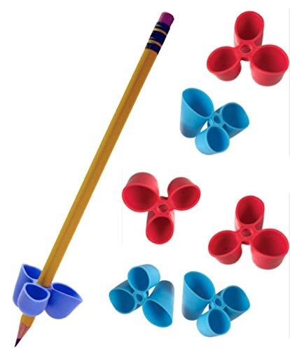 Scopri offerta per L'artiglio scrittura a matita Grip per matite e utensili, di formato medio, 6 conte Blu/Rosso (TPG-21206)