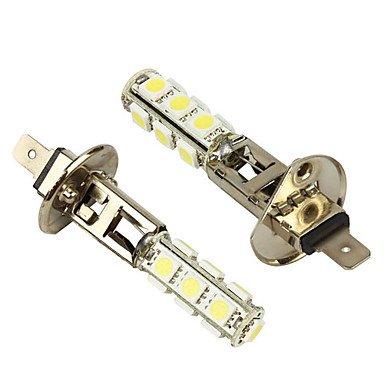 Merdia 2 Pcs H1 Blanc 13 5050 SMD LED Foglight Head Light Bulb Lamp-LEDD001B13H1S2