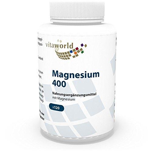 Vita World Magnesium 400mg 120 Vegi Kapseln Apotheken Herstellung