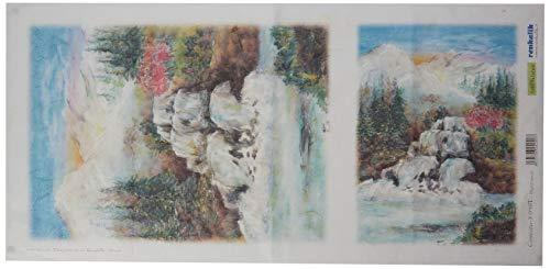 Renkalik renkalikqsito019t 23x 50cm Agua Falls 3Seda impresión Hoja de Papel de Toalla (Juego de)